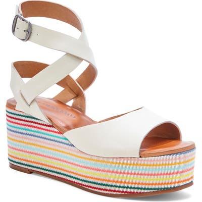 Lucky Brand Ginny Platform Sandal- White