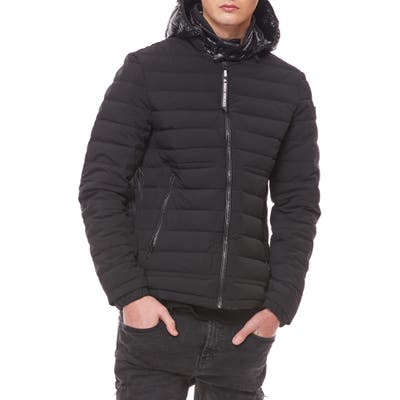 Moose Knuckles Black Rock Down Jacket, Black