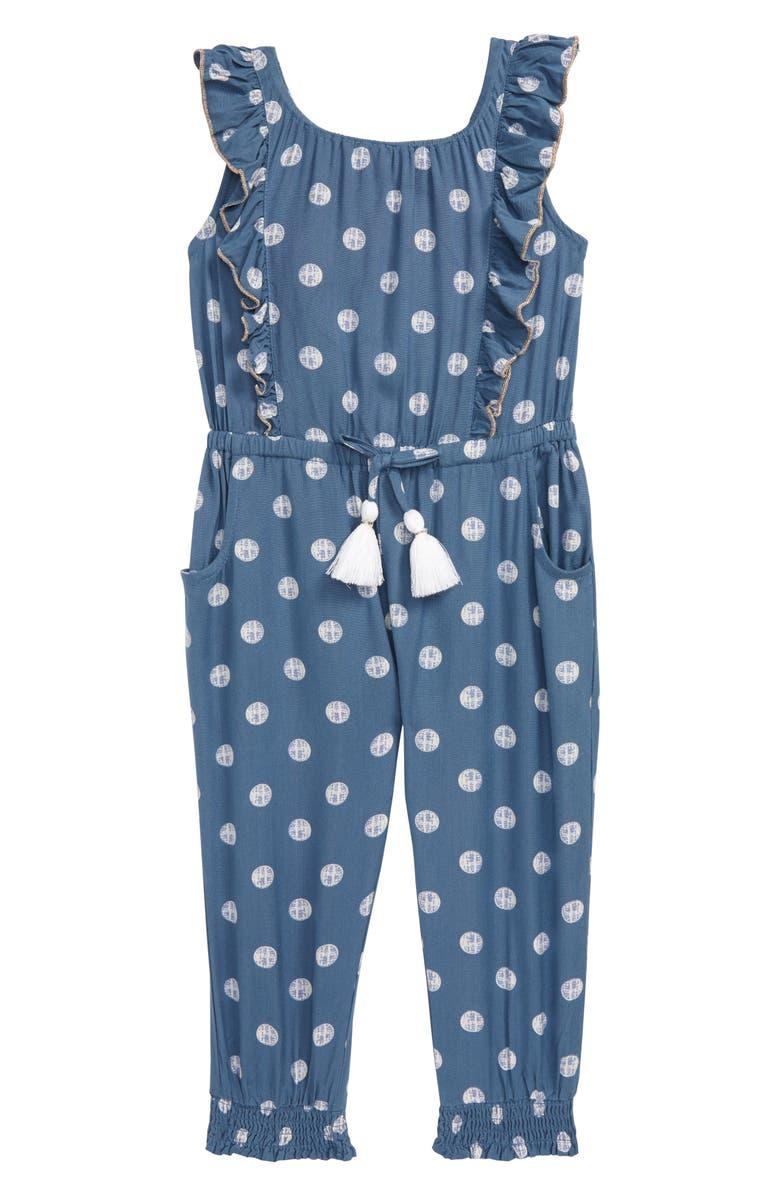 PEEK AREN'T YOU CURIOUS Madison Jumpsuit, Main, color, BLUE