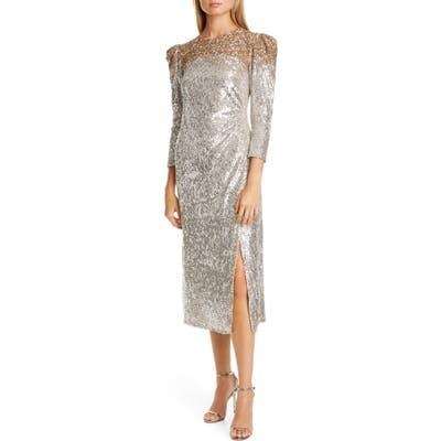 Sachin & Babi Ombre Sequin Cocktail Dress, Metallic