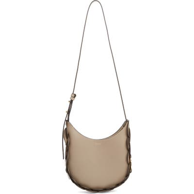 Chloe Small Darryl Leather Shoulder Bag - Grey