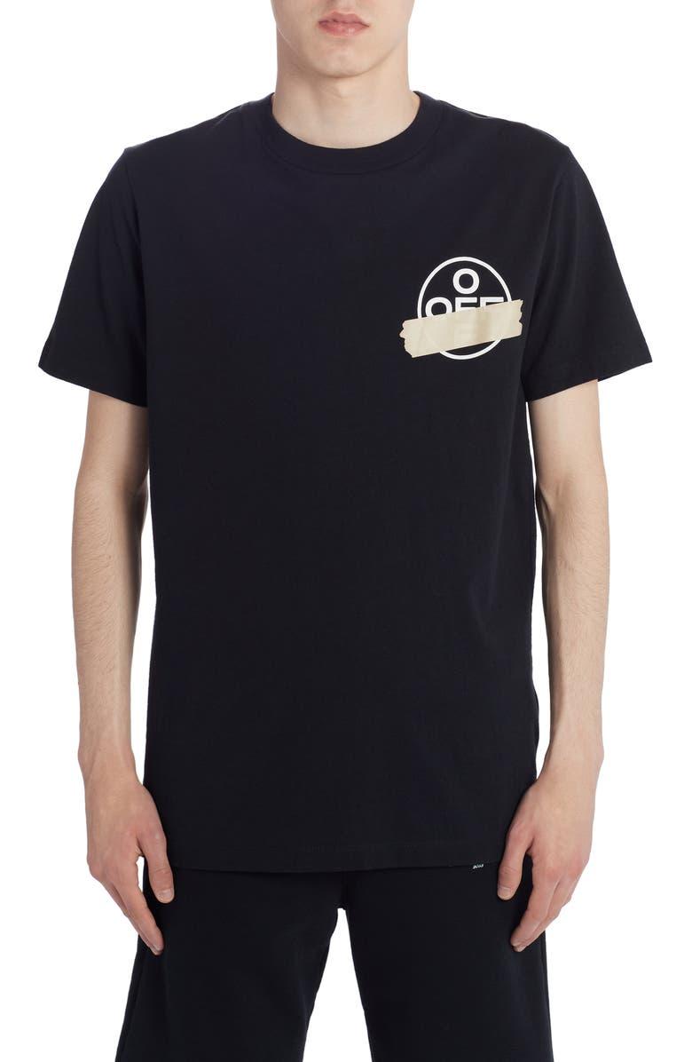 OFF-WHITE Tape Arrows Slim T-Shirt, Main, color, BLACK BEIGE