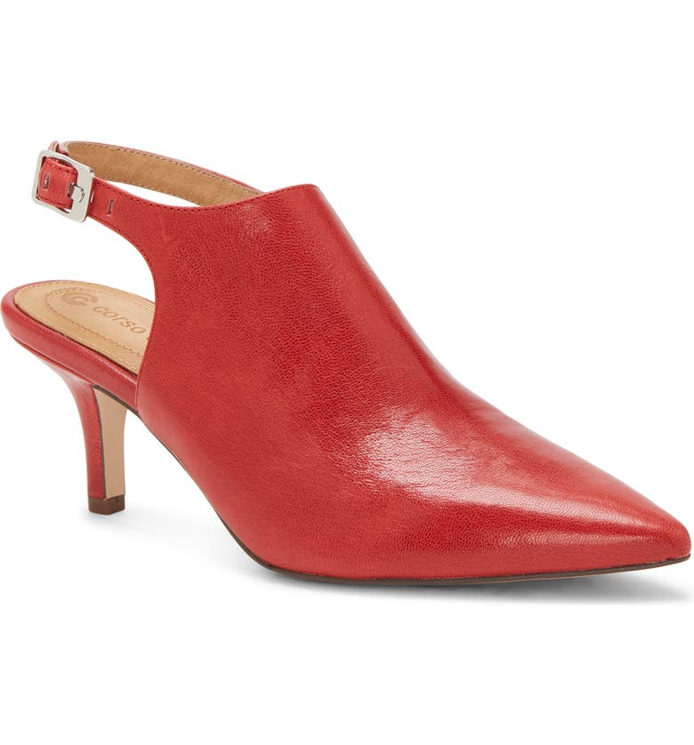 CC CORSO COMO<SUP>®</SUP> Dionna Ankle Strap Pump, Main, color, CHERRY RED LEATHER