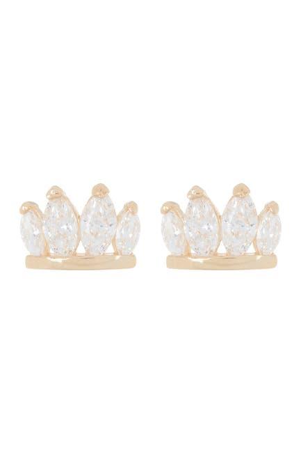 Image of Candela 14K Yellow Gold Swarovski Crystal Stud Earrings