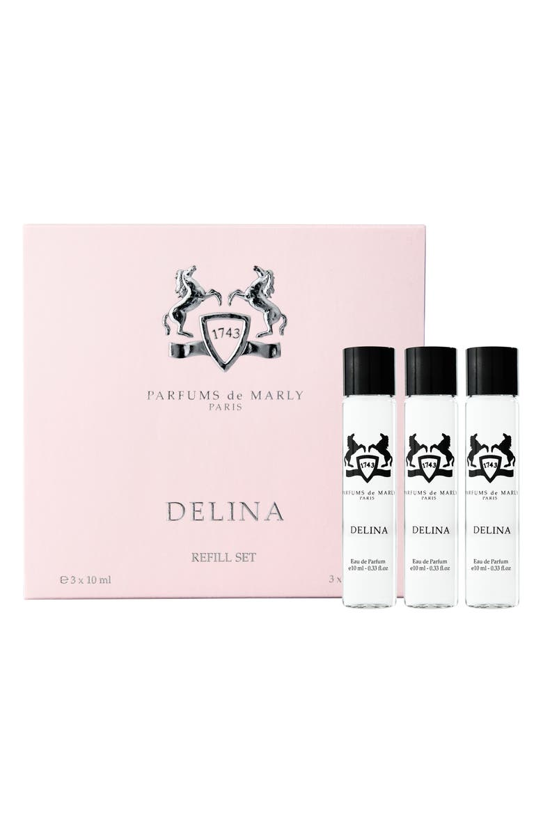 PARFUMS DE MARLY Delina Eau de Parfum Refill Set, Main, color, 000