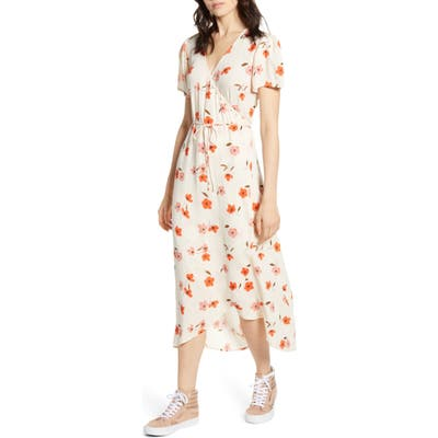 Billabong Floral Fields Midi Dress, Ivory