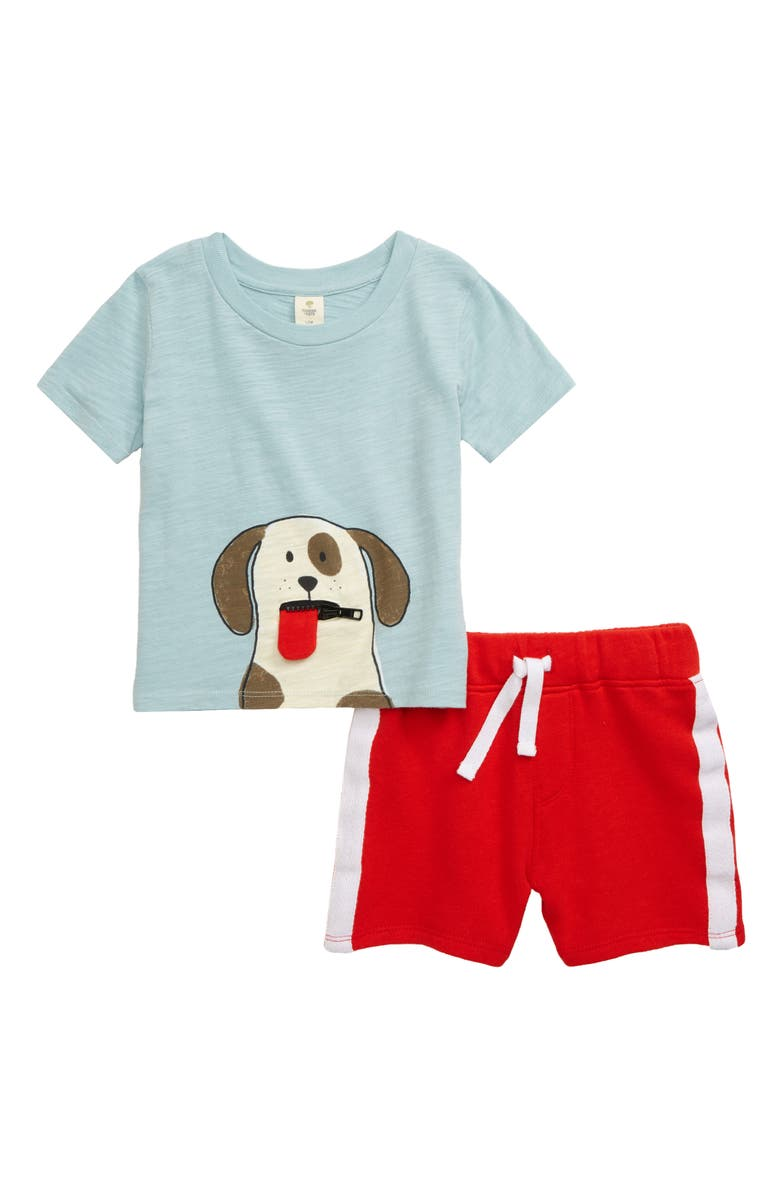 TUCKER + TATE Graphic Tee & Shorts Set, Main, color, BLUE STERLING DOG