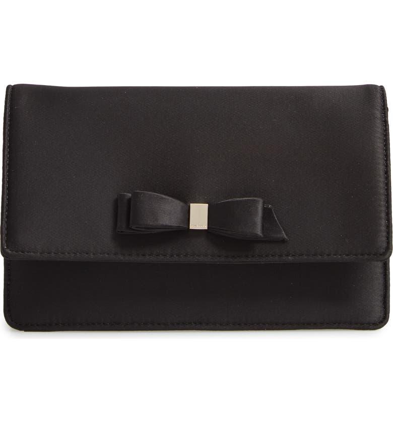 Ted Baker London Zaandra Satin Bow Envelope Evening Bag