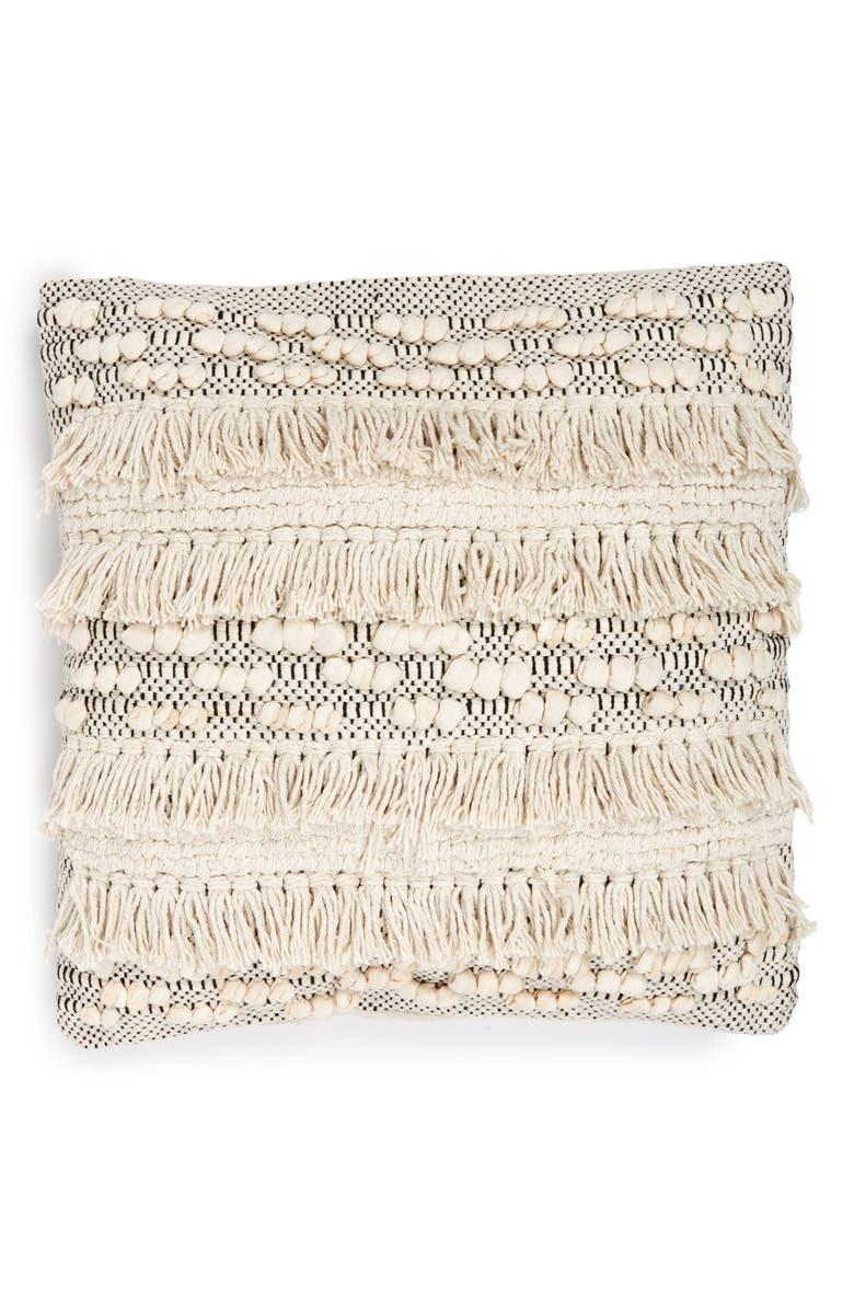 LEVTEX Fringe Accent Pillow, Main, color, 900