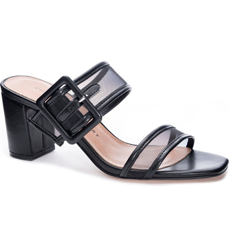 CHINESE LAUNDRY Yippy Block Heel Sandal, Main, color, BLACK MESH