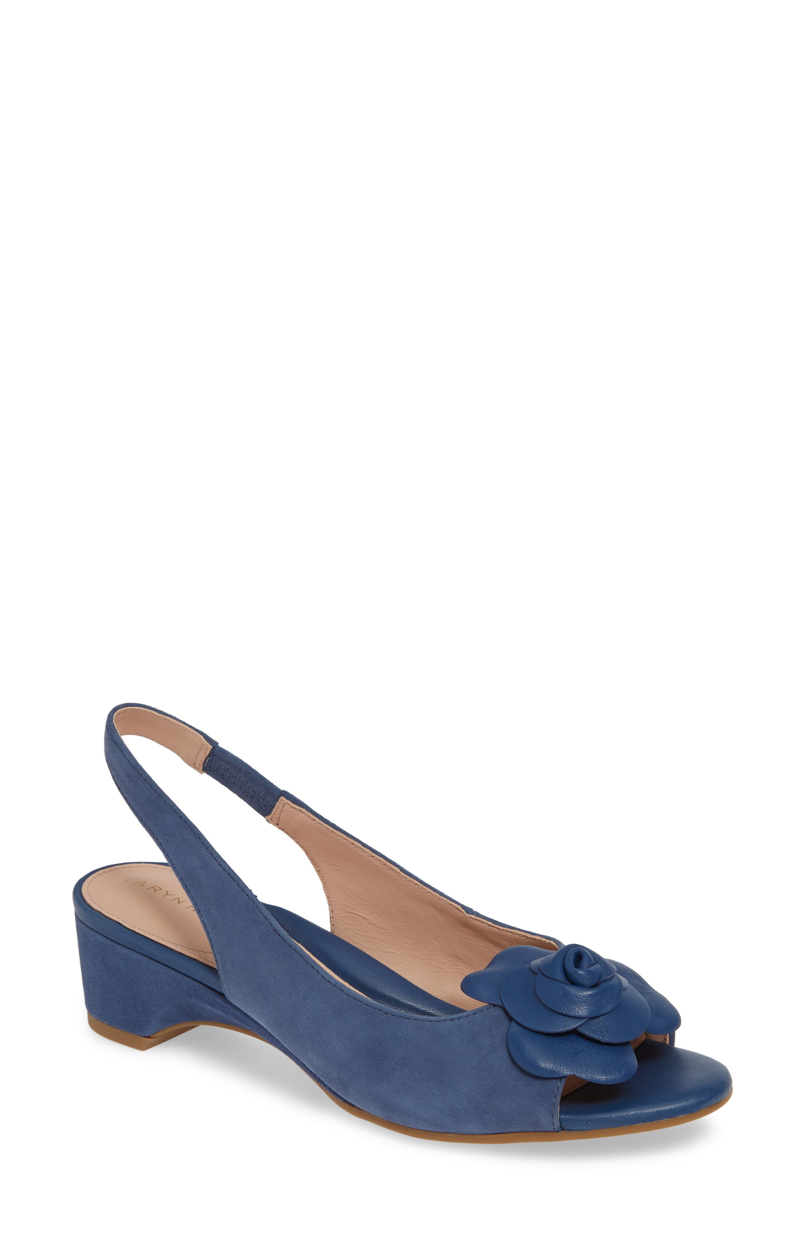 Taryn Rose Neva Slingback Sandal- Blue
