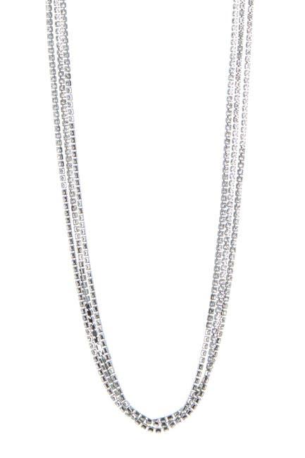 Image of CRISTABELLE Rhinestone 3-Strand Long Necklace