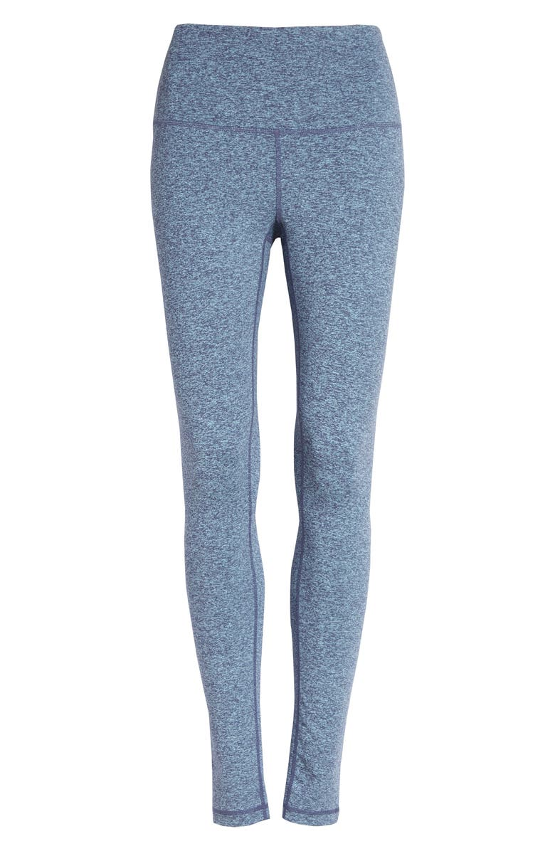 ZELLA Live In High Waist Leggings, Main, color, BLUE SHADOW CROSS DYE