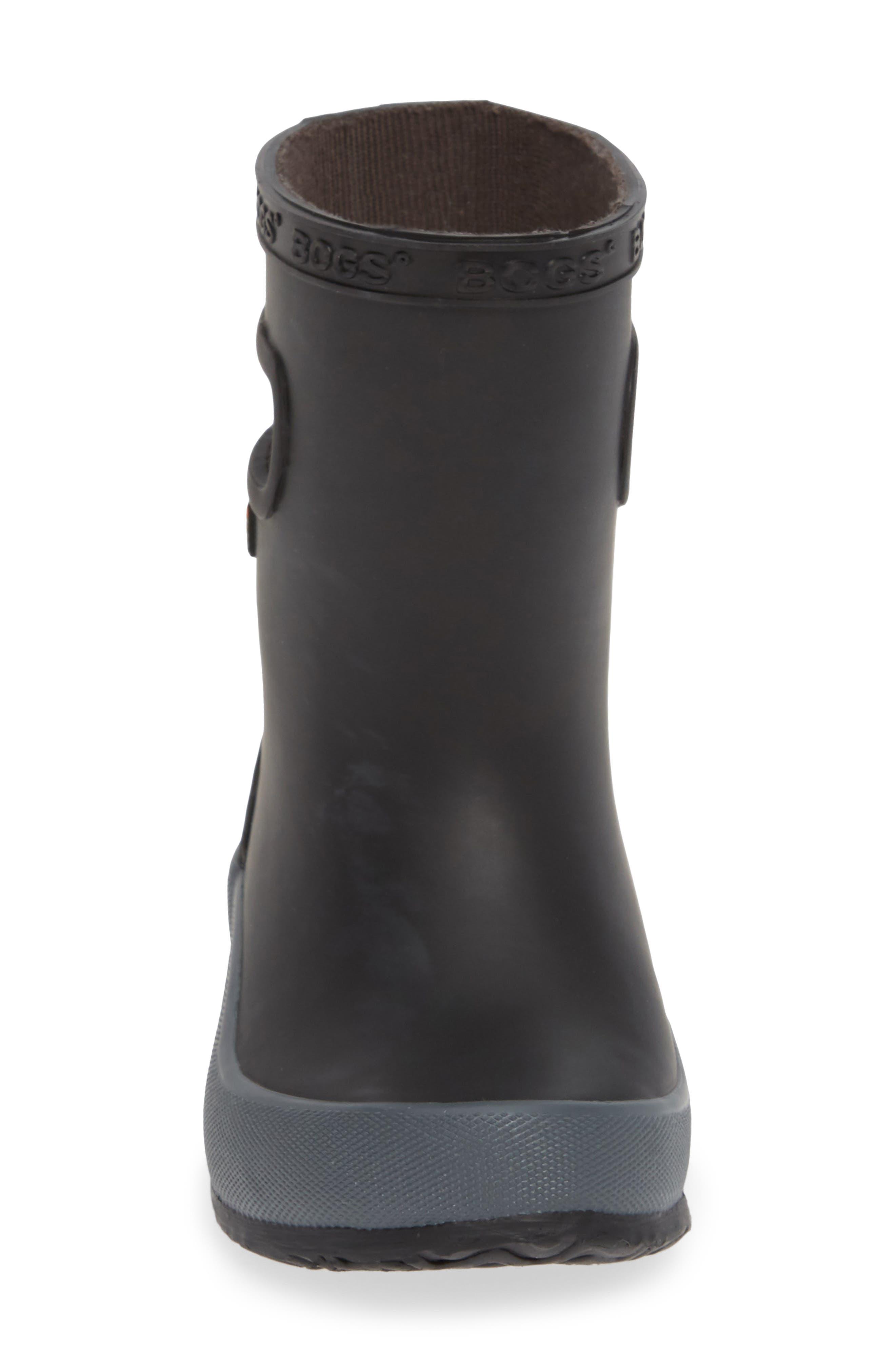 ,                             Skipper Solid Rubber Rain Boot,                             Alternate thumbnail 4, color,                             BLACK