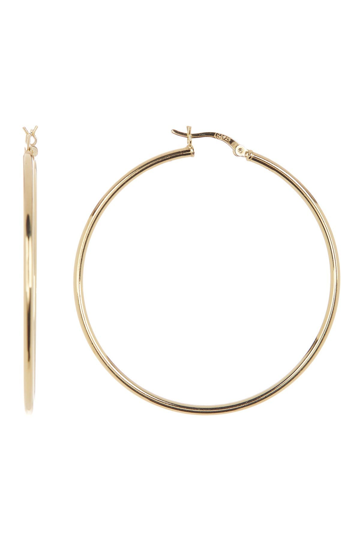 Image of Sterling Forever 14K Gold Vermeil 50mm Hoop Earrings