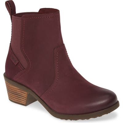 Teva Anaya Waterproof Chelsea Boot, Burgundy