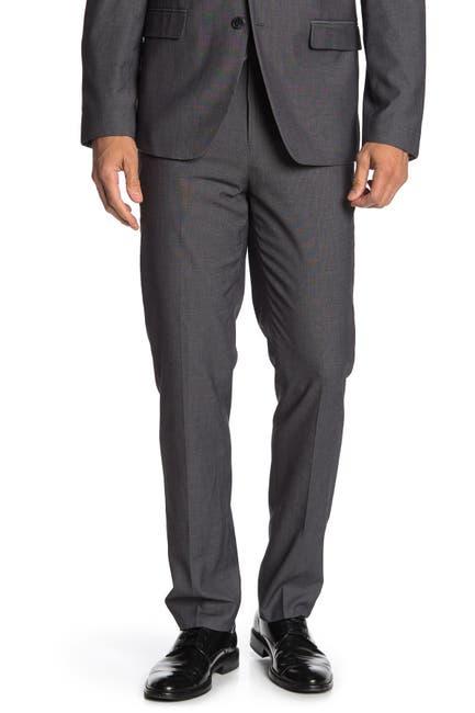"Image of Ben Sherman Dark Grey Solid Suit Separates Pants - 30-34"" Inseam"