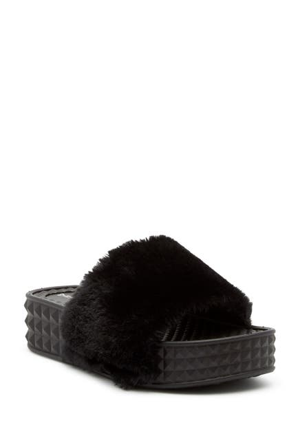 Image of Dirty Laundry Sonny Faux Fur Slide Sandal