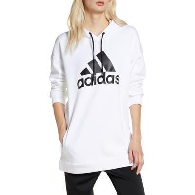 Adidas Logo Hoodie, White