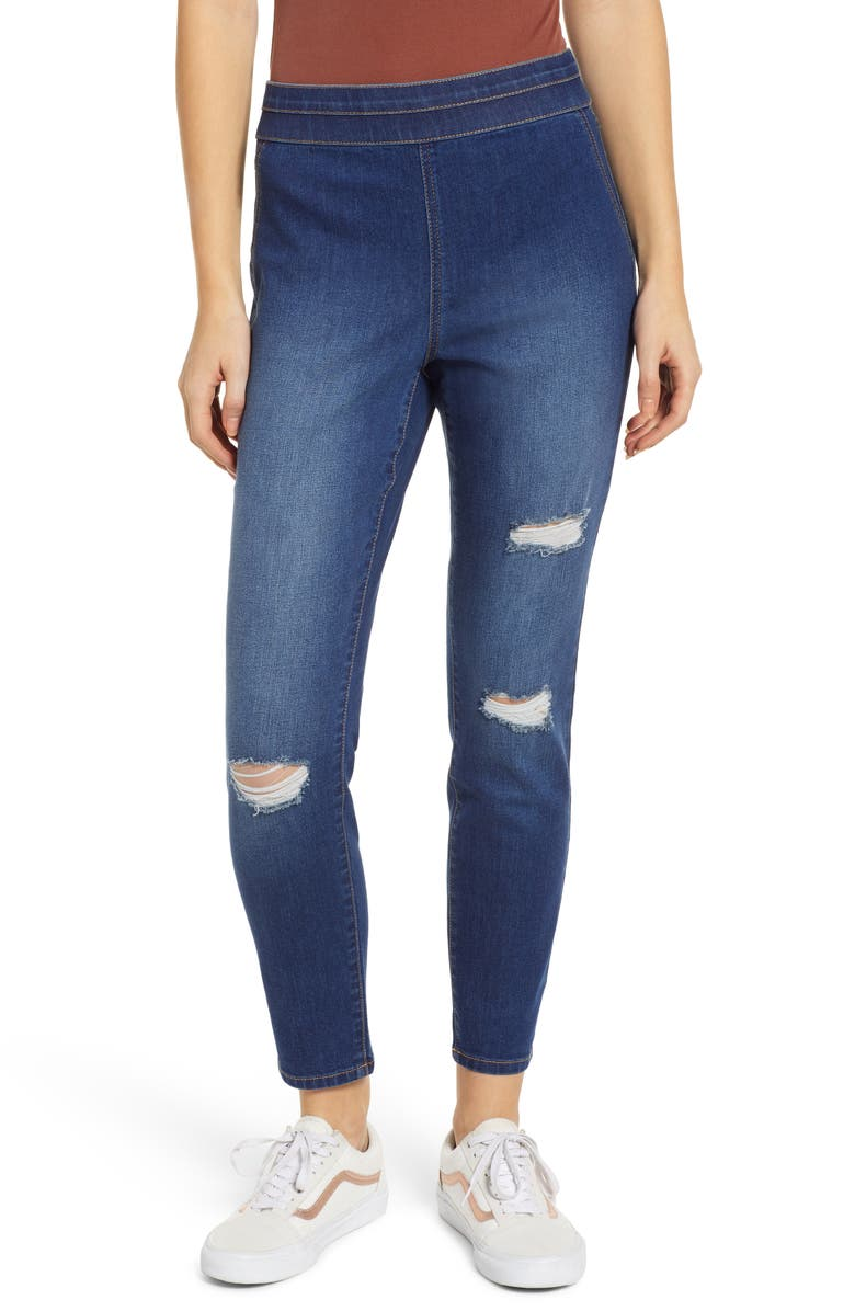 TINSEL High Waist Jeggings, Main, color, FORCE BLUE WASH