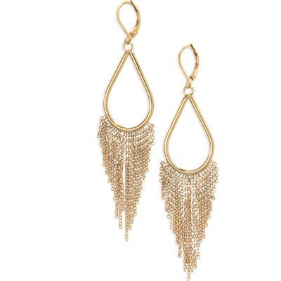 Knotty Chain Fringe Drop Earrings