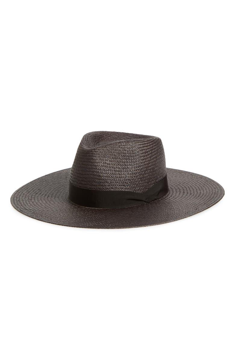 RAG & BONE Wide Brim Panama Hat, Main, color, 001