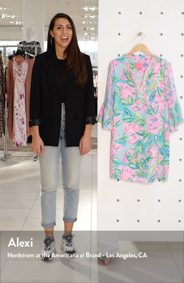 Elenora Floral Silk Shift Dress, sales video thumbnail