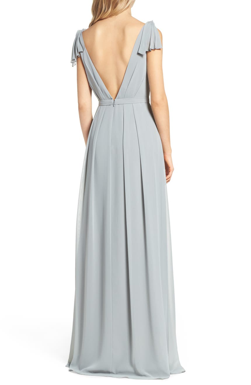 c5432fa851adf Monique Lhuillier Bridesmaids Sleeveless Deep V-Neck Chiffon Gown  (Nordstrom Exclusive) | Nordstrom
