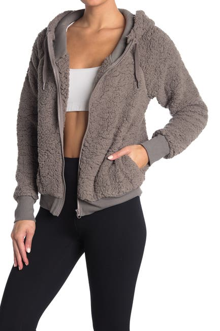 Image of Z By Zella Up & Over Faux Shearling Zip Hoodie