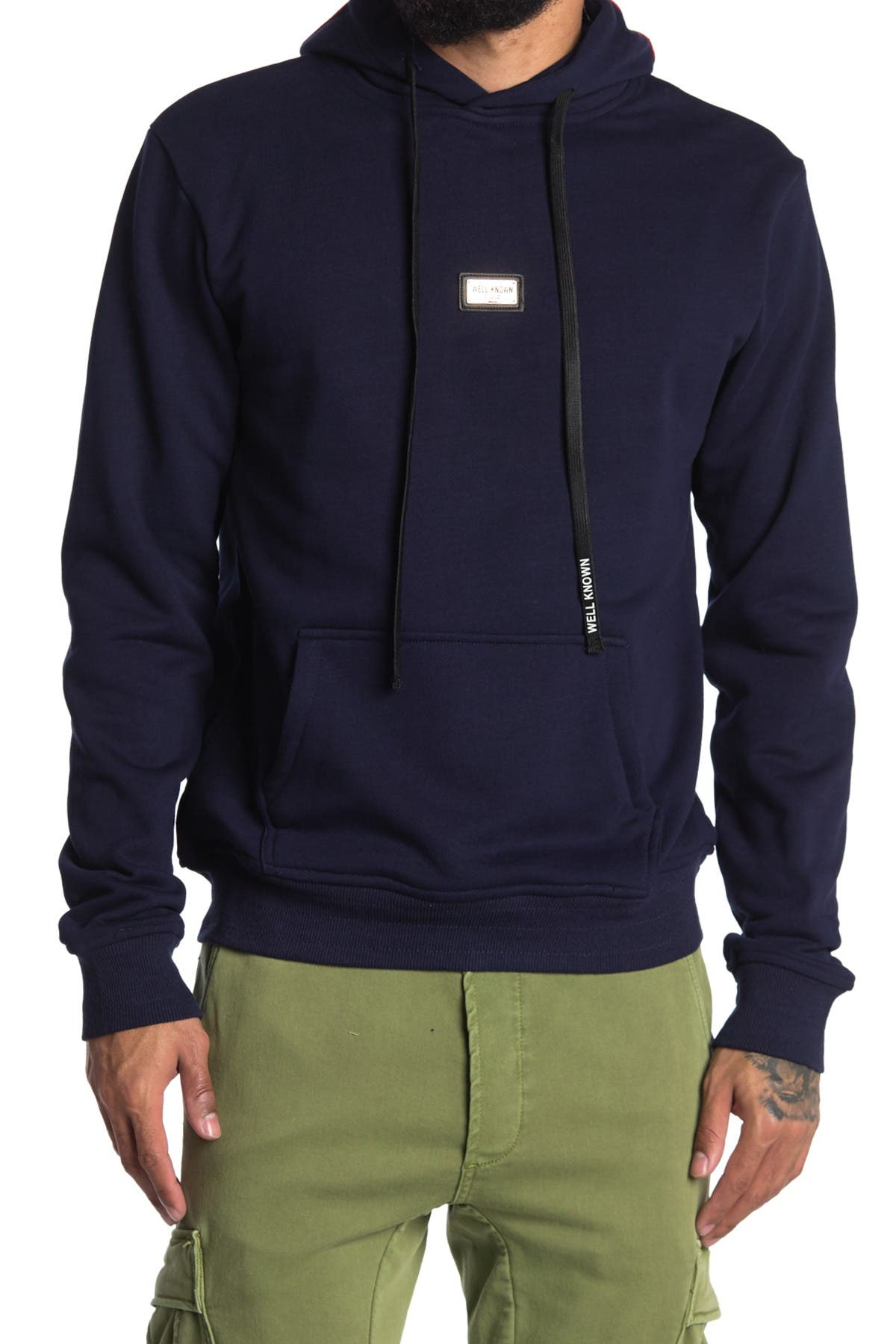 Image of Well Known Bowery Cotton Pullover Hoodie