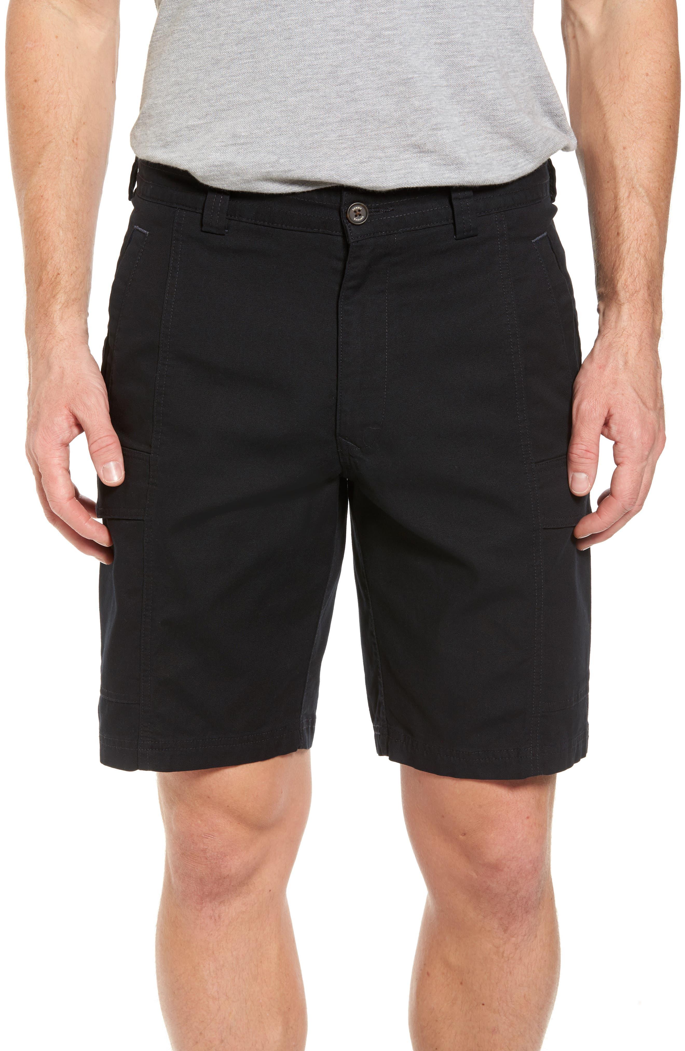 Big & Tall Tommy Bahama Key Isles Cargo Shorts, Black