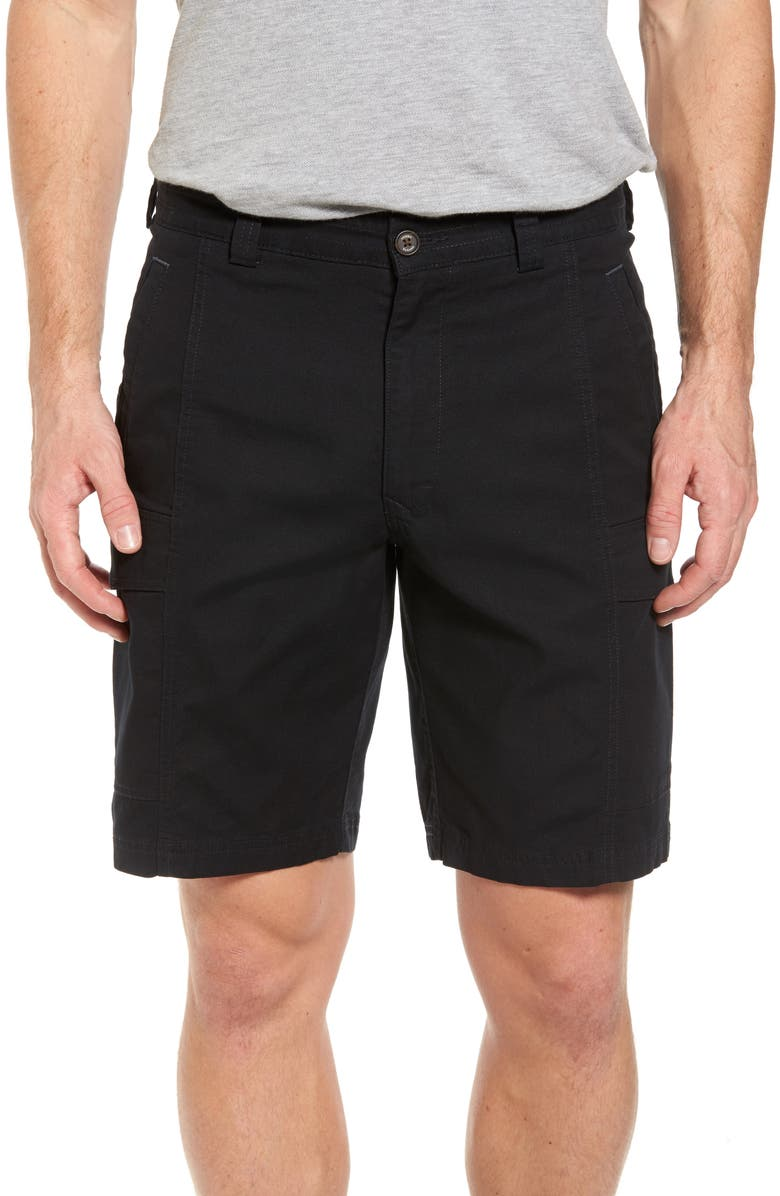 TOMMY BAHAMA Key Isles Cargo Shorts, Main, color, BLACK