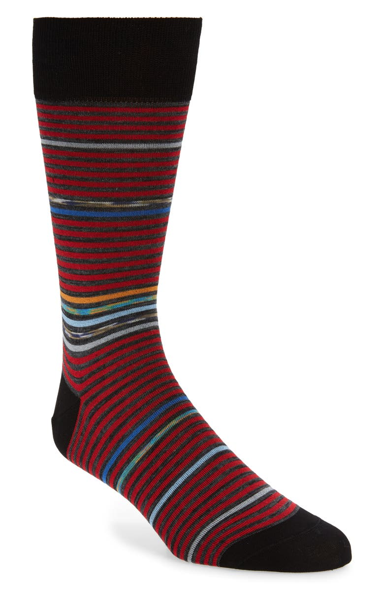BUGATCHI Stripe Socks, Main, color, 620
