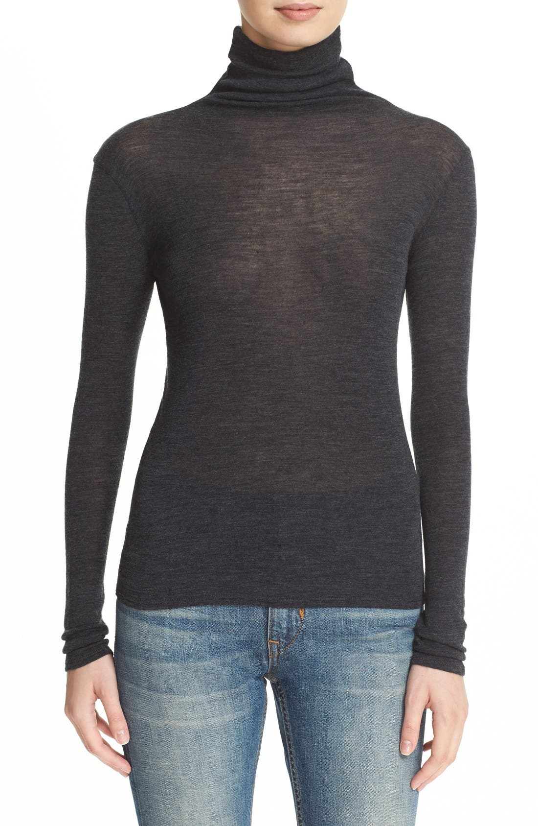 ,                             Lightweight Wool Funnel Neck Sweater,                             Main thumbnail 6, color,                             020