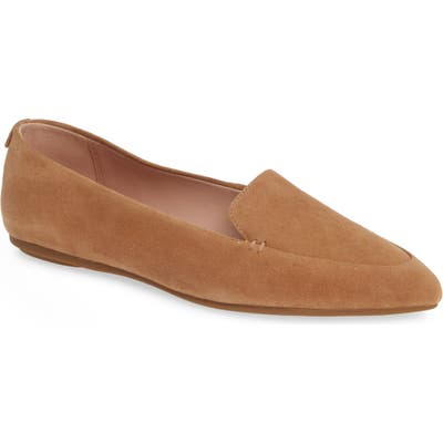 Taryn Rose Faye Pointy Toe Loafer, Beige