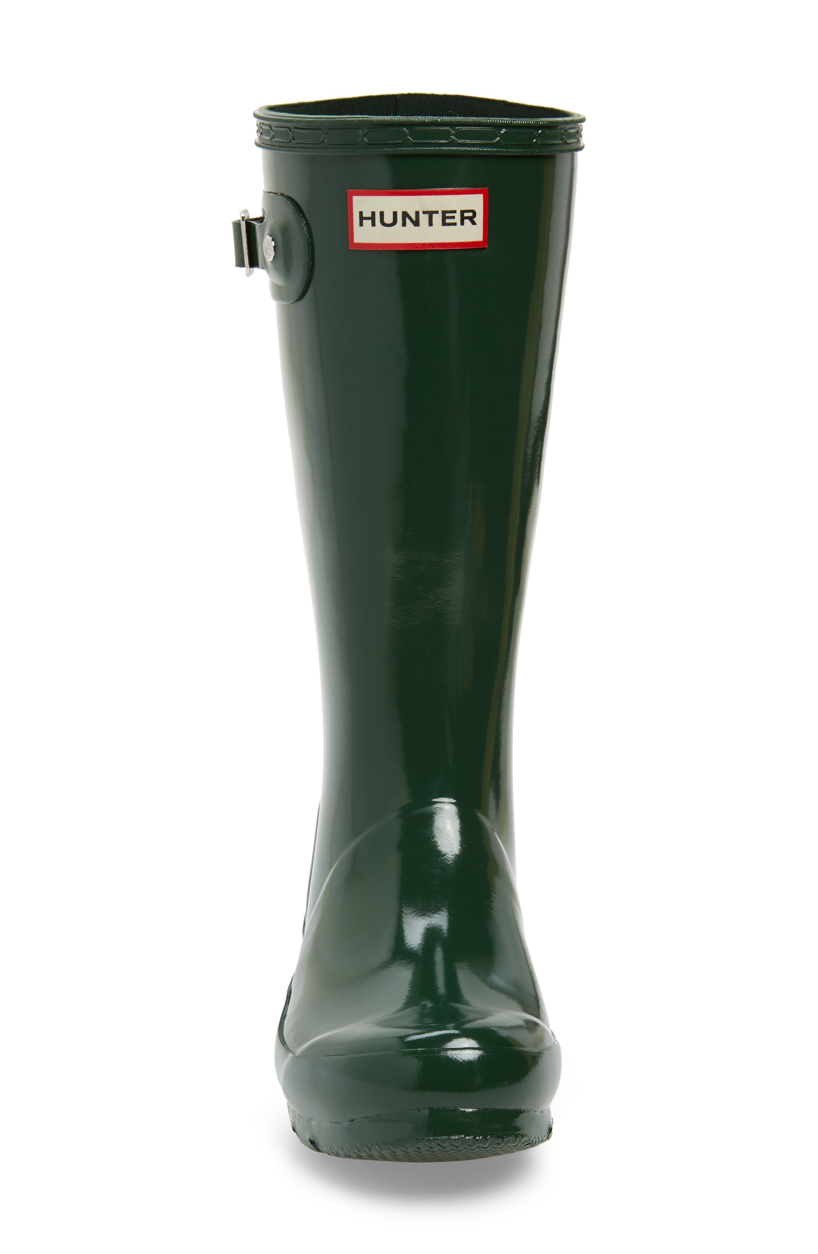 ,                             Original Gloss Rain Boot,                             Alternate thumbnail 4, color,                             HUNTER GREEN