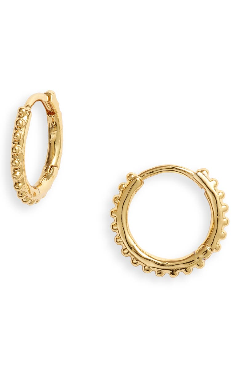 GORJANA Bali Huggie Hoop Earrings, Main, color, GOLD