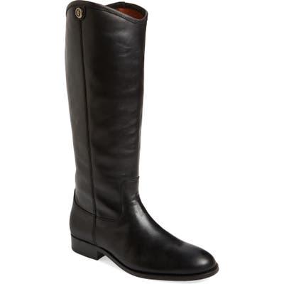 Frye Melissa Button 2 Knee High Boot Ext Calf- Black