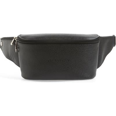 Longchamp Le Foulonne Leather Belt Bag - Black