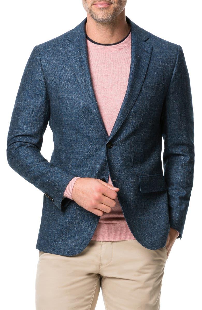 RODD & GUNN Saint John Regular Fit Wool, Cotton & Linen Sport Coat, Main, color, PETROL