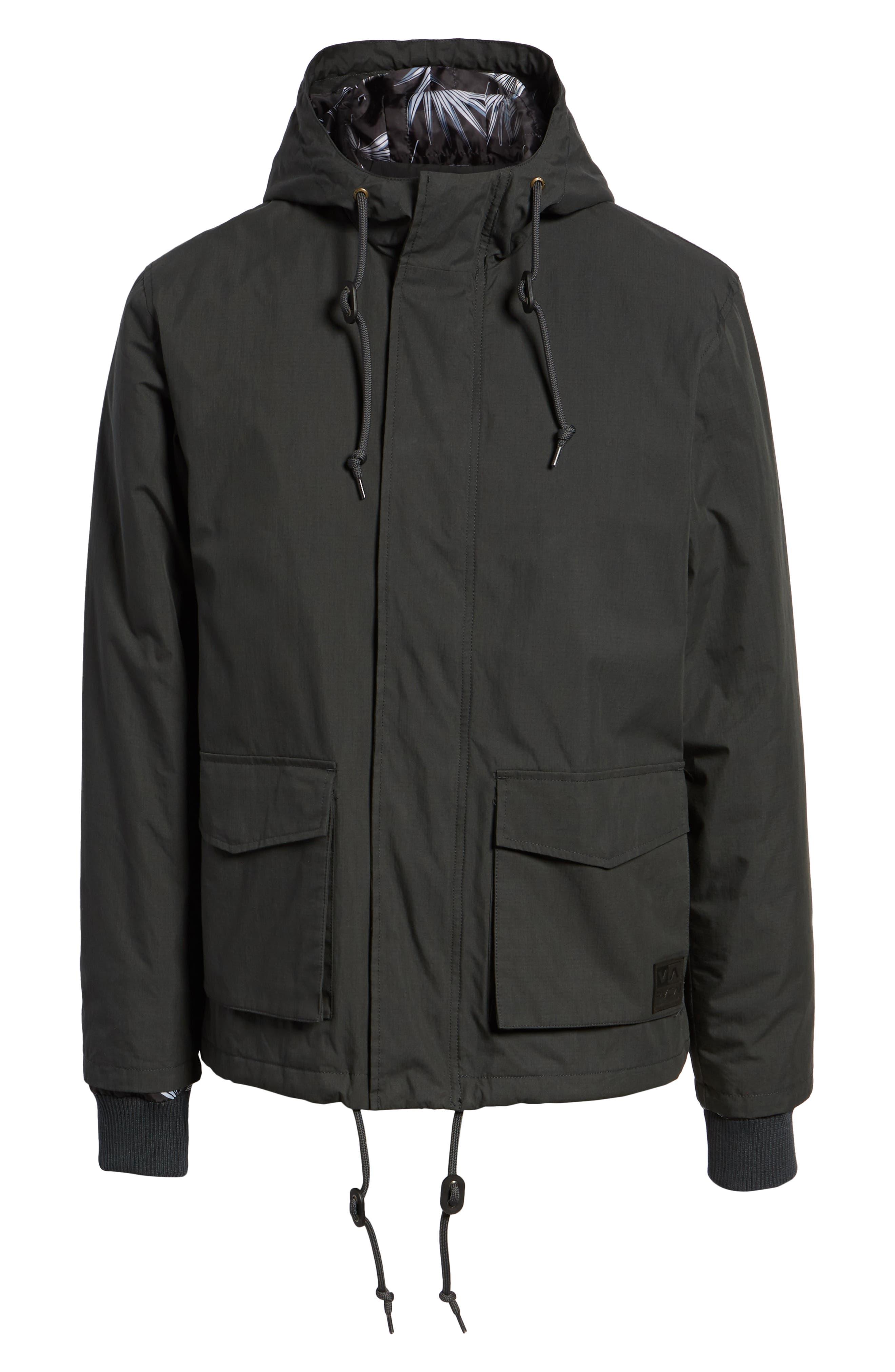 ,                             Ripstop Parka Jacket,                             Alternate thumbnail 6, color,                             PIRATE BLACK