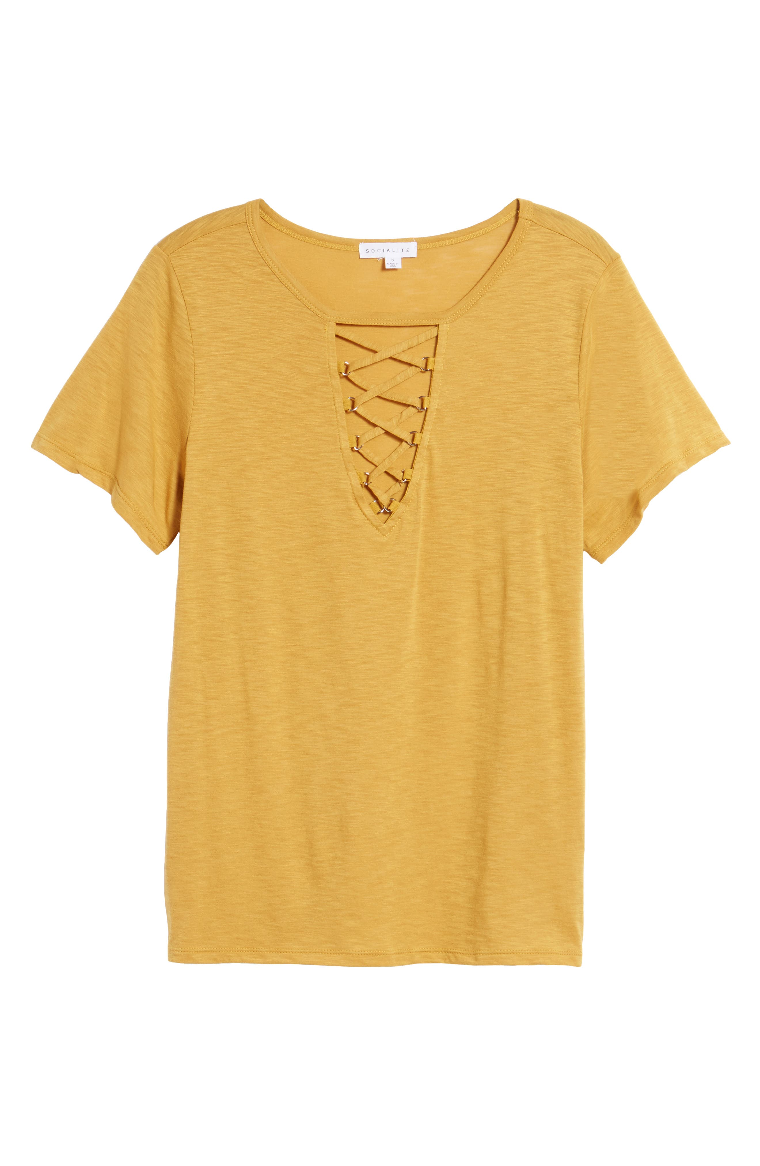 ,                             Grommet Lace-Up Tee,                             Alternate thumbnail 29, color,                             702