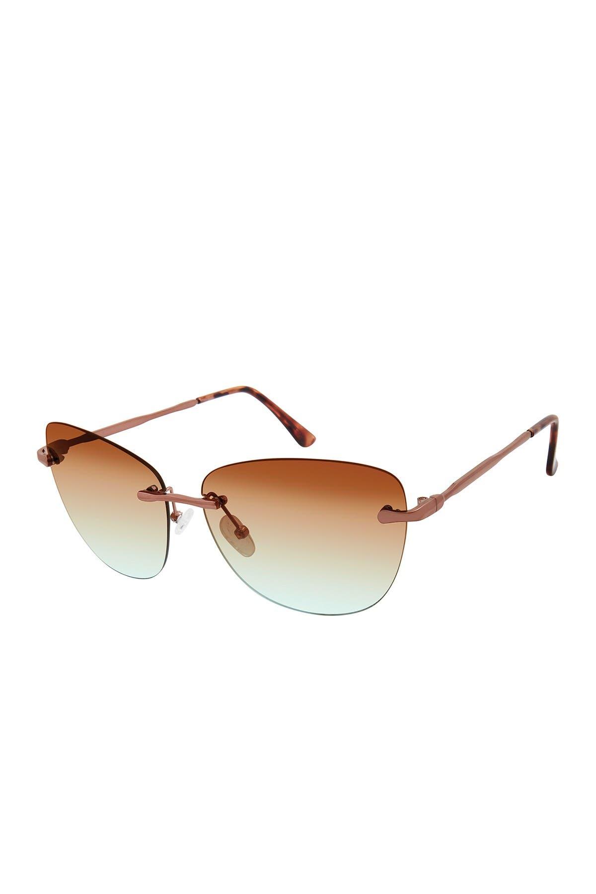 Image of True Religion 54mm Geometric Rimless Sunglasses