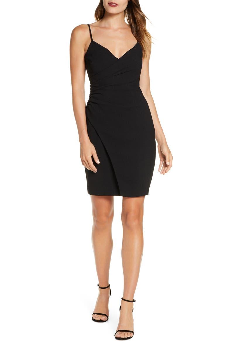 BLACK HALO Esthero Crepe Body-Con Dress, Main, color, 001