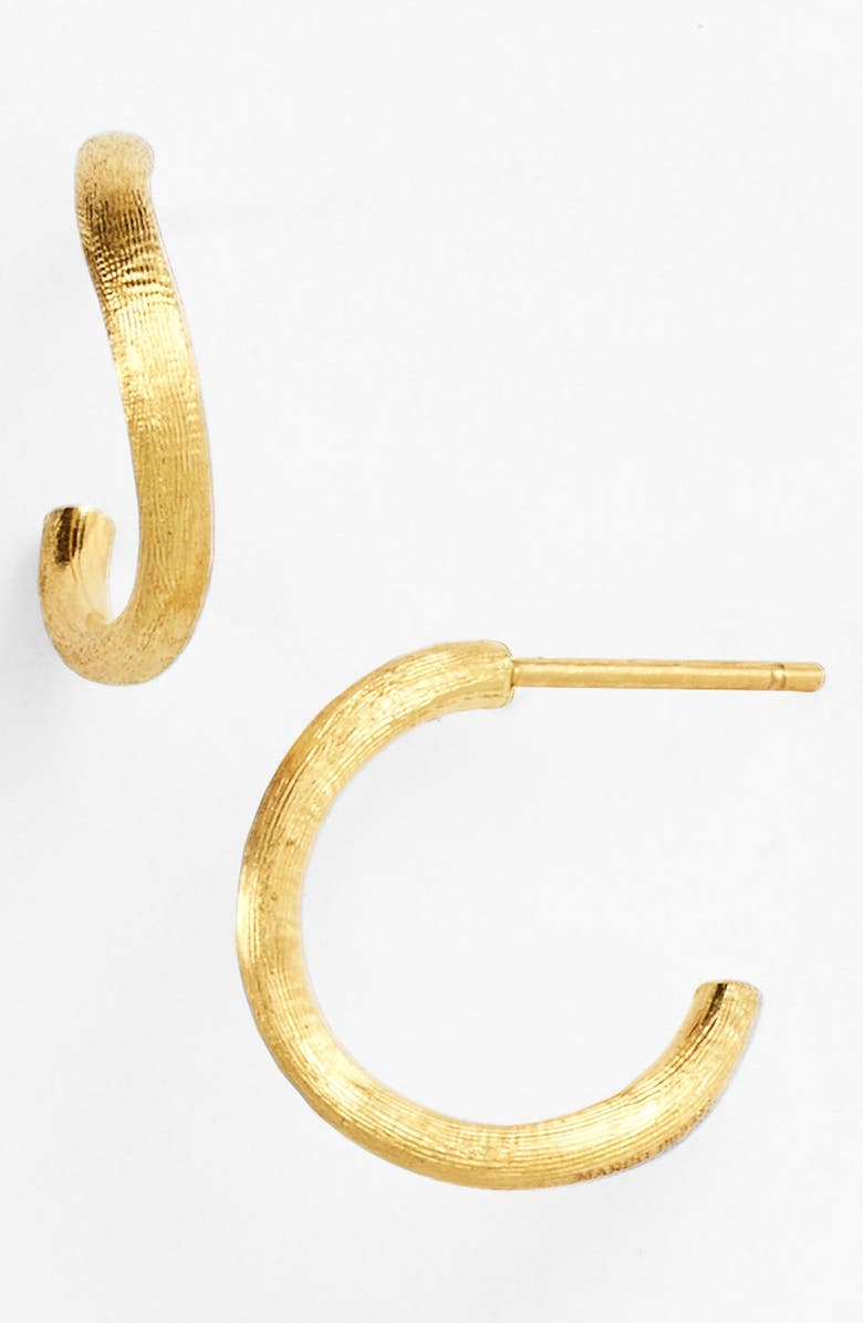 MARCO BICEGO 'Delicati' Hoop Earrings, Main, color, YELLOW GOLD