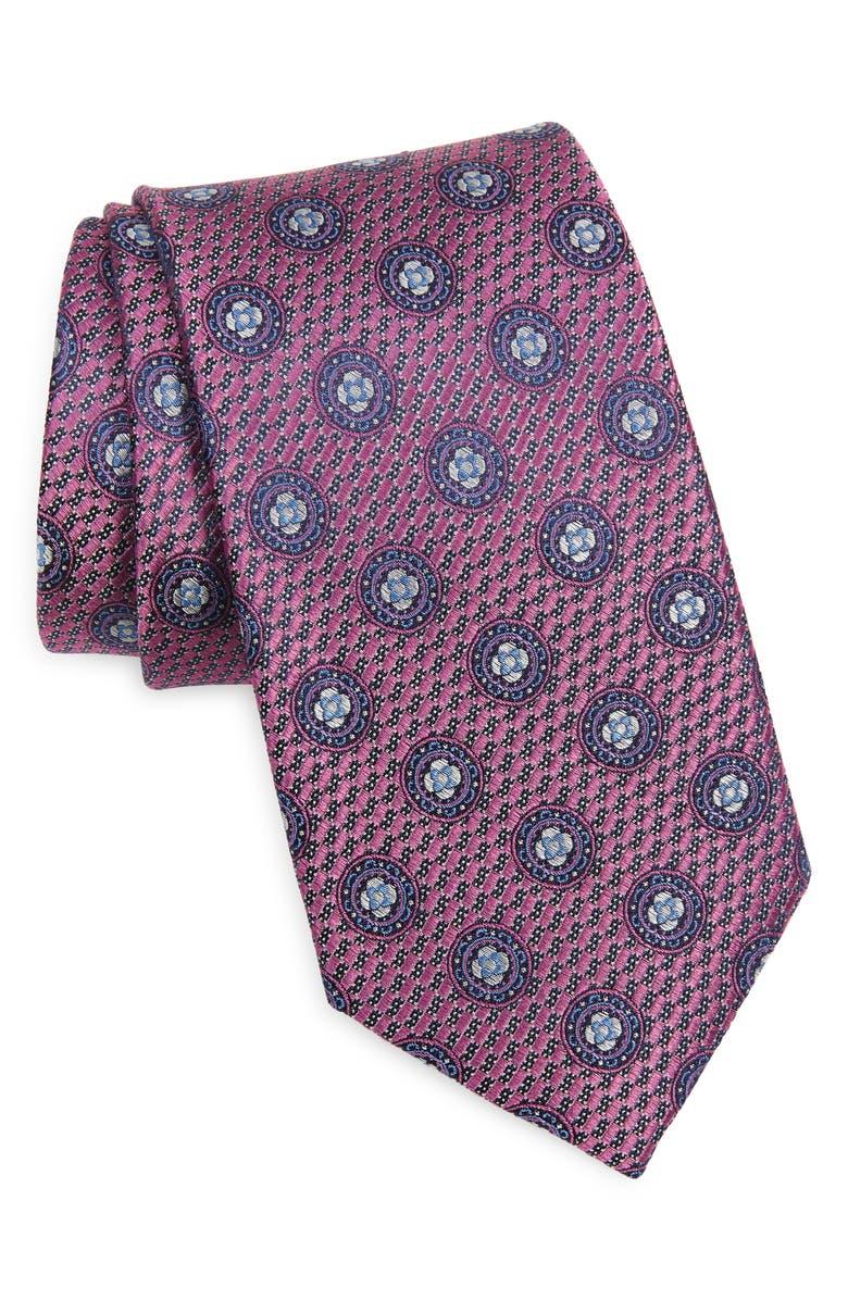 NORDSTROM Travis Medallion Silk Tie, Main, color, 650