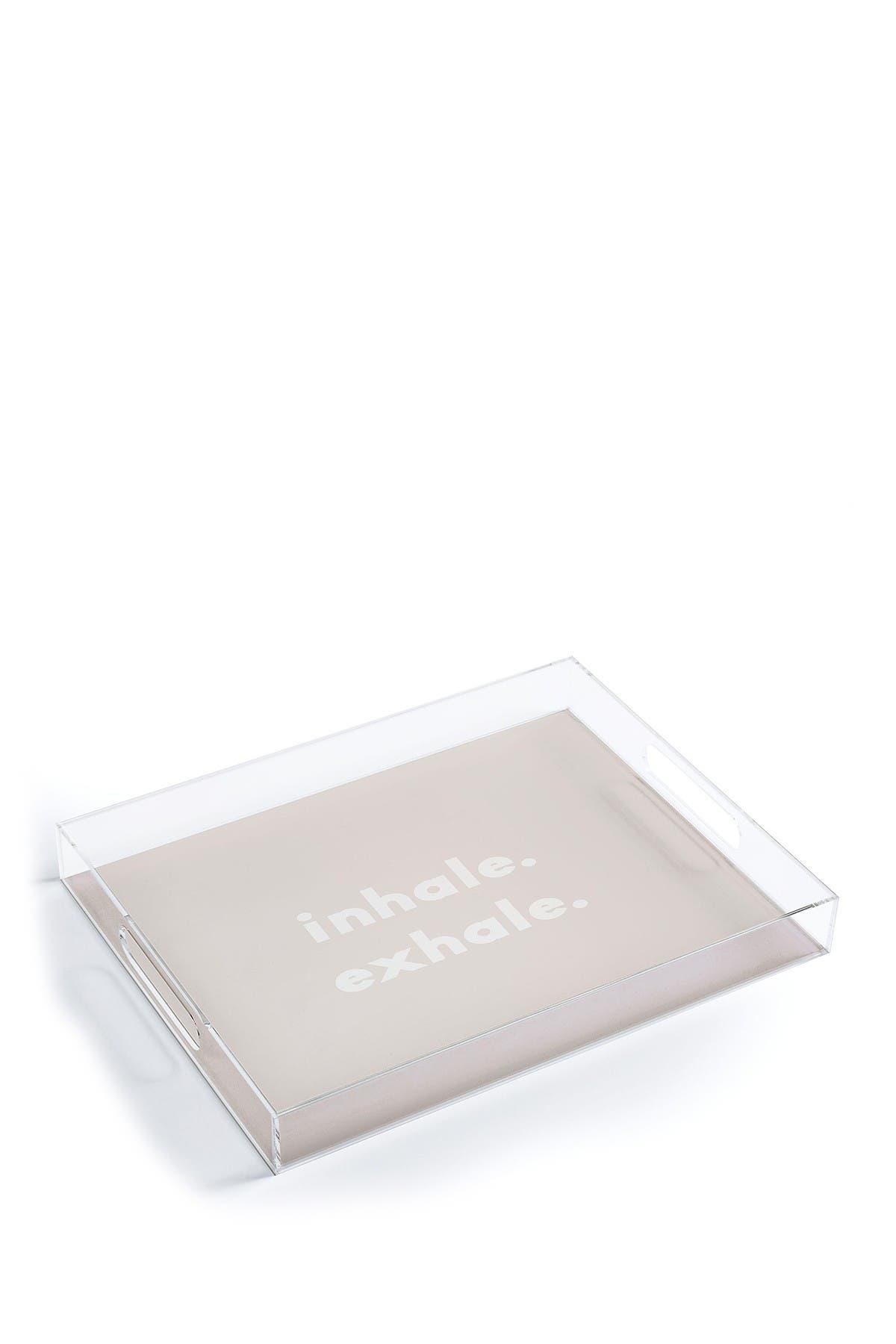 Image of Deny Designs Urban Wild Studio Inhale Exhale Blush Acrylic Tray