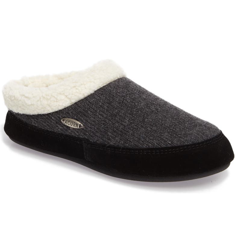 ACORN Ragg Mule Slipper, Main, color, DARK CHARCOAL HEATHER