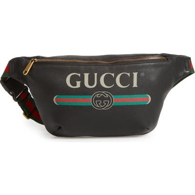 Gucci Logo Leather Waist Pack -