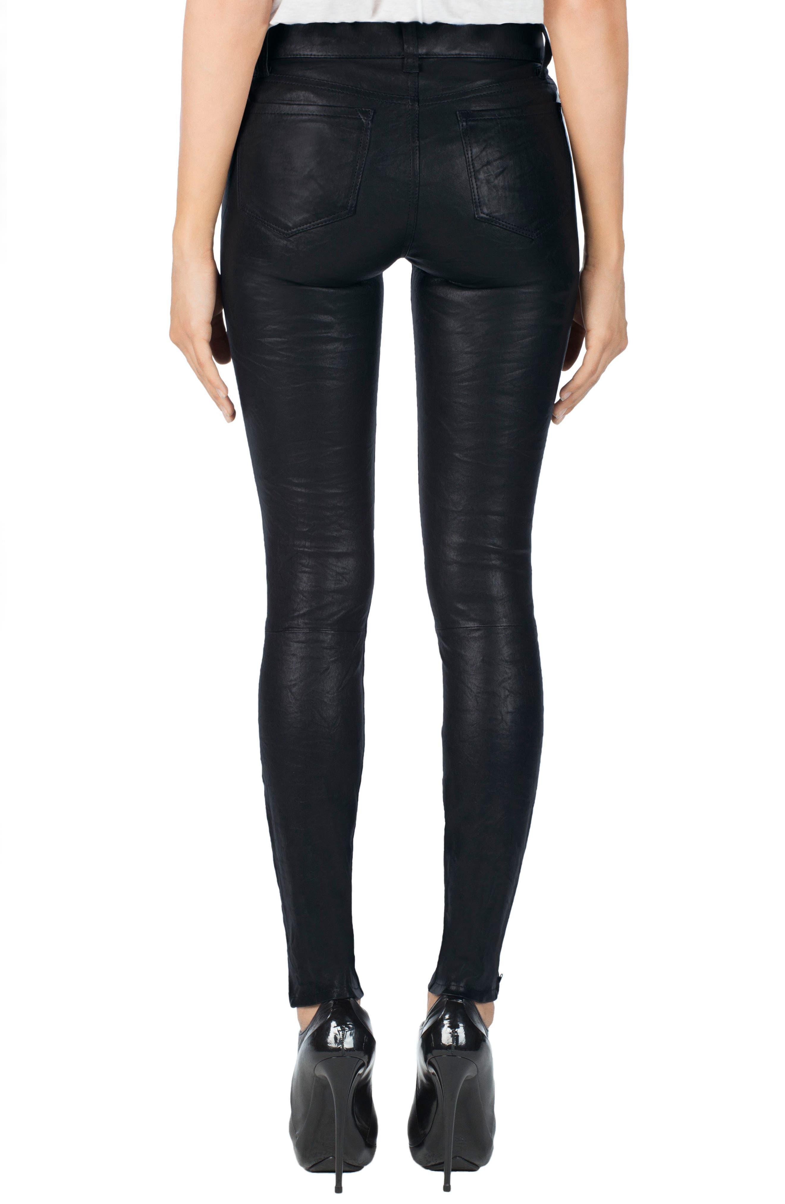,                             '8001' Lambskin Leather Pants,                             Alternate thumbnail 64, color,                             402